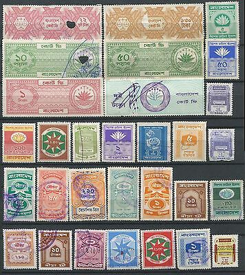 Bangladesh 68 different Revenue & Court Fee stamps