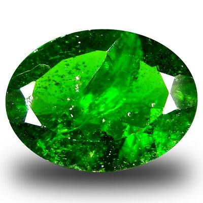 3.11 ct  Mesmerizing Oval Shape (12 x 9 mm) Green Chrome Diopside Gemstone