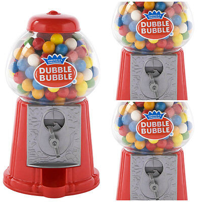 Classic Vintage Red Bubble Gum Machine Bank Contains 50 Gumballs Candy Dispenser