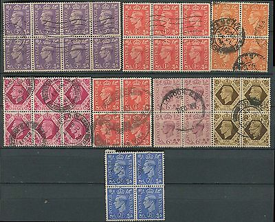 GB KGVI 2/6 used blocks (8)