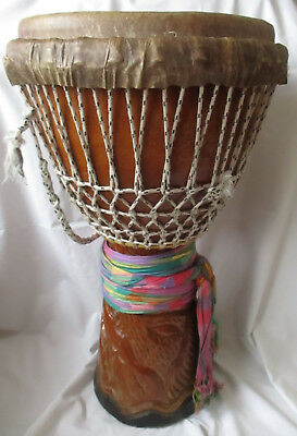 Large African Djembe Drum With Backpack Carrying Case Senegal
