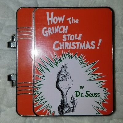 "NEW Universal Studios ""How the Grinch Stole Christmas!"" by Dr Seuss book pin"
