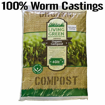 40L WORM COMPOST Castings 100% ORGANIC VERMICOMPOST Superior NATURAL Manure NEW