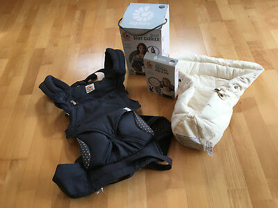 ERGOBABY FOUR POSITION 360 BABY CARRIER + Accessories DUSTY BLUE : Hardly Used