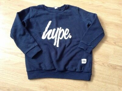 Pre-Owned Navy Blue Hype Sweater Age 9-10 ??