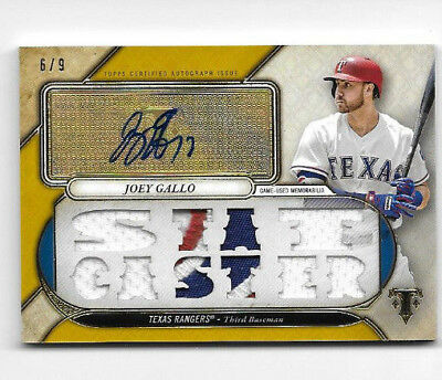 Joey Gallo 2017 Triple Threads Auto Jersey Patch Gold #d 6/9