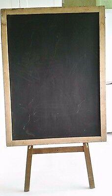 A large, old, double-sided Blackboard and Easel Stand (1950s?)