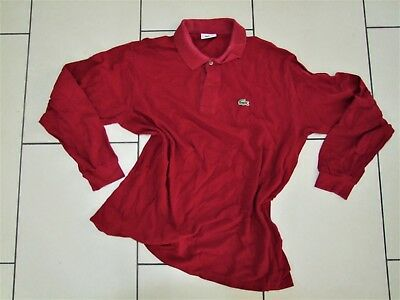 Polo LACOSTE, taglia 4 (M) , colore bordeaux. Vintage used clothing