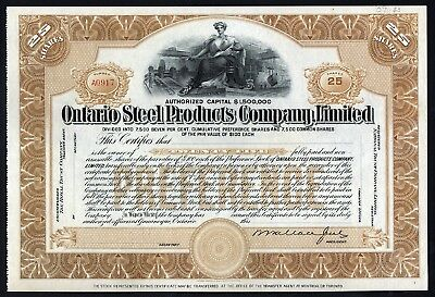 Gananoque, Ontario: Ontario Steel Products Company Ltd.