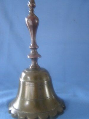 Late 18Th Century Bell Metal & Brass Table Desk  Bell Great Untouched Condition