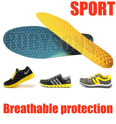 Breathable Flexible Shock Absorbing Sporting Insoles Ultra-light Cushioned Sport