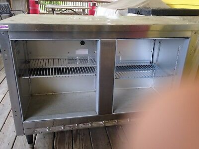 used non working stainless steel commercial refrigerator