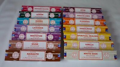 Satya Nag Champa Genuine Incense Sticks 28 To Choose  From 15g 12/13 Stick Packs