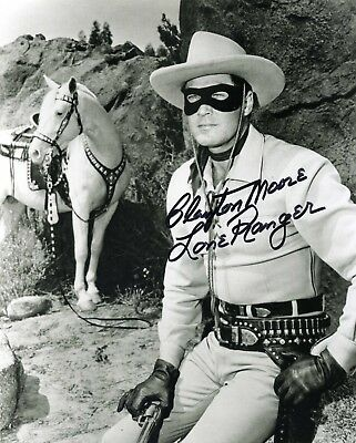 Clayton Moore, The Lone Ranger-Signed 8X10 Black And White Glossy Photo