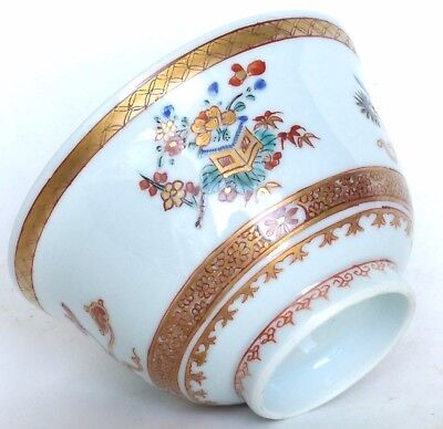 Bol Famille Verte Kangxi porcelaine Compagnie Indes Chine 18è / chinese export