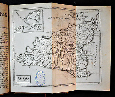 "1786 Original Geographical Map "" SICILIA Antiqua "" - Christophori  CELLARIUS."