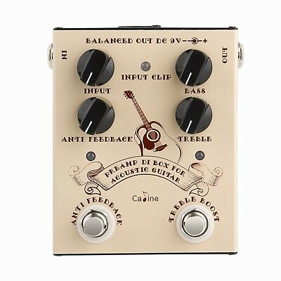 CALINE CP-40 PRE-AMP DI Box for ACOUSTIC GUITARS 2017 NEW AND NICE US SHIP!