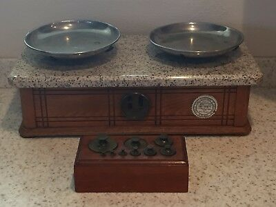 Antique Pharmacy Scale with Brass  Weights