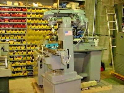 Clausing Model 8530 Vertical Milling Machine 110 Volts New Vise Etc