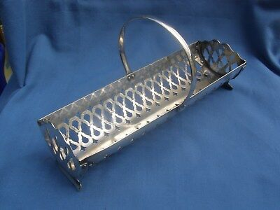 Vintage Silver Plate Sweet Cookie Biscuit Rack