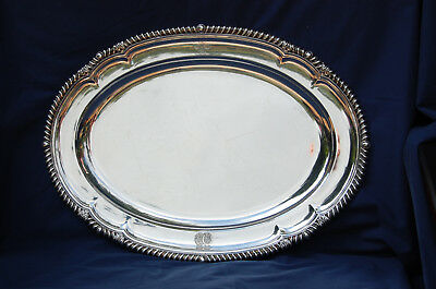 Paul Storr - Sterling Silver Meat Tray, 1811 with 2 Royal British Coat of Arms