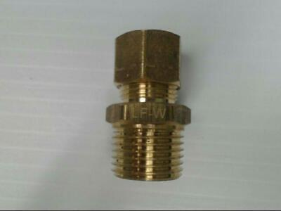 """Brass P-68-88-LF Tube to Male Straight Pipe 1/2"""" x 1/2"""" Adapter Fitting *Qty 10*"""