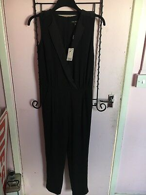 Next Black Jumpsuit Size 10 New With Tags
