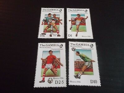 Gambia 1986 Sg 645-648 World Cup Football Mnh