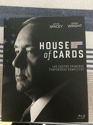 House of Cards, pack temporadas 1-4 Blu ray