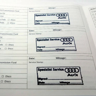 STAMPED Service History Book AUDI stamp Replace Missing History A1 A3 A4 A5 A6