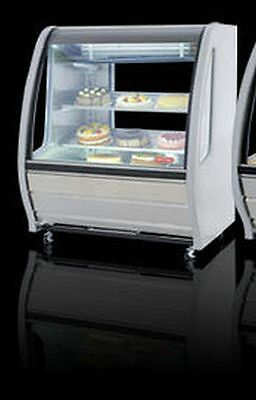 New White Curved Glass Deli Bakery Display Case Refrigerated Free Liftgate  Del.