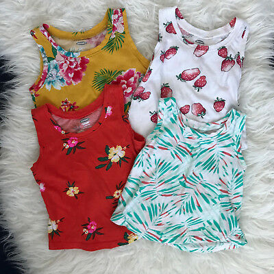 Baby Girl's Lot of 4 Old Navy Summer Tank Tops Size 18-24 Months