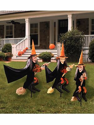 Witchly Lawn Ornaments Holiday Halloween Outdoor Yard Scary Decorations