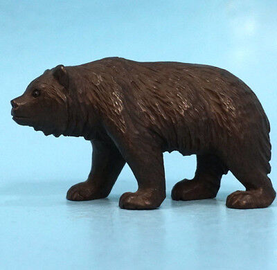 Antique Swiss Black Forest Wood Hunt Carving Bear Glass Eyes c1900 Brienz