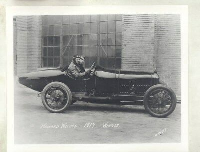 1919 Peugeot Indy 500 Race Driver Howard Wilcox Factory Photo wy5688