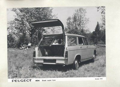 1970 Peugeot 404 Break Super Luxe Station Wagon ORIGINAL Factory Photo wy5710