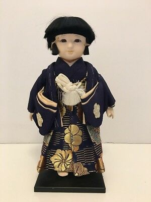 "Hakata Doll. Man In Costume. 11"". Handpainted. Japan"