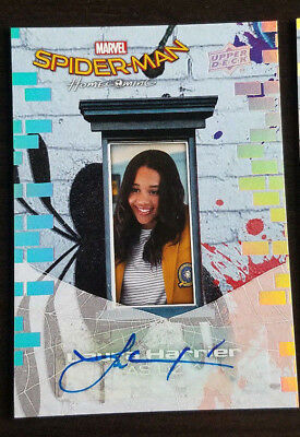 2017 Upper Deck UD Spider-Man Homecoming AUTO/Autograph Laura Harrier as Liz