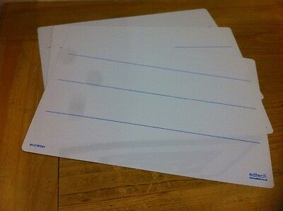 Edtech A4 5 pack Literacy Handwriting lined drywipe whiteboards
