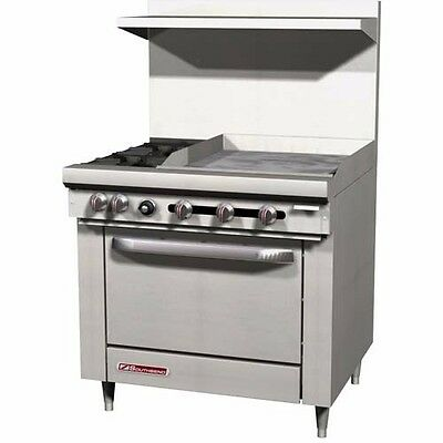 "S-Series, 2 Burner with Griddle, Standard Oven , 36"" wide, Southbend S36D-2GR"