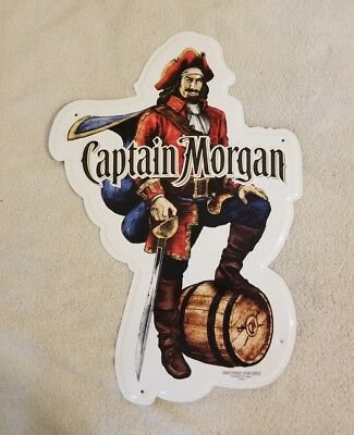 Captain Morgan Tin Sign Brand New In Factory Box