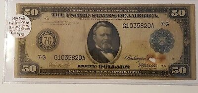 1914 $50 Federal Reserve Chicago