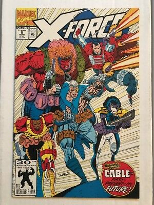 X-FORCE #8 (Marvel 1992) 1st App Of Domino! Deadpool 2! Origin Of Cable! NM!
