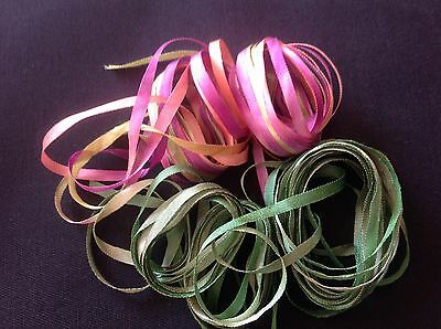 Silk embroidery ribbon