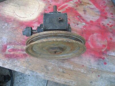 Vintage Gear Reduction Box W/ Pulley