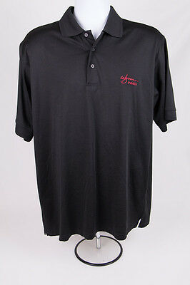 "WYNN CASINO Men's Sz L Black Casual ""Wynn Poker"" Dealer? Polo Shirt NatureTech"