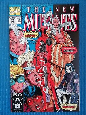 New Mutants # 98 - (Nm+) - 1St Appearance Of Deadpool - High Grade - White Pages