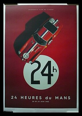 1962 Le Mans 24 Hours FERRARI 250 GTO XL Fine Art Print Poster S/N SOLD OUT OOP