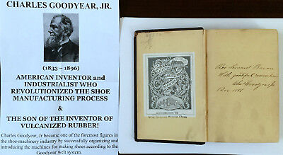 Civil War Inventor Industrialist Revolution Shoe Mfr Goodyear Letter Signed Book