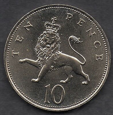 United Kingdom 10 new pence Large Coins 1983